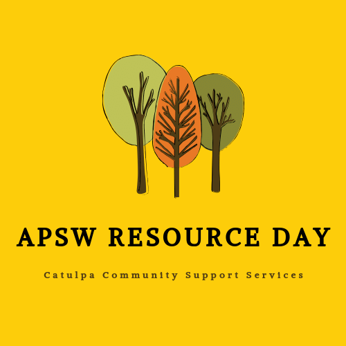 Midland APSW Resource Day: AM Session @ Catulpa Community Support Services