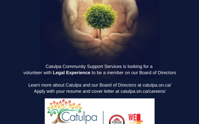 Volunteer on Catulpa's Board of Directors