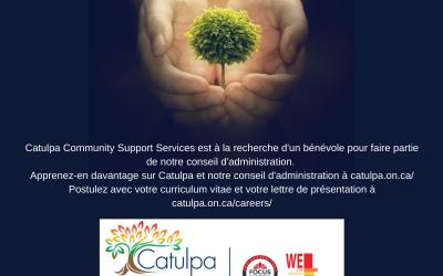 Bénévole au conseil d'administration de Catulpa
