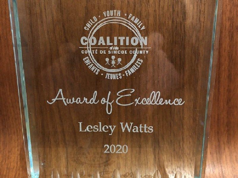 County of Simcoe Coalition Award of Excellence 2020