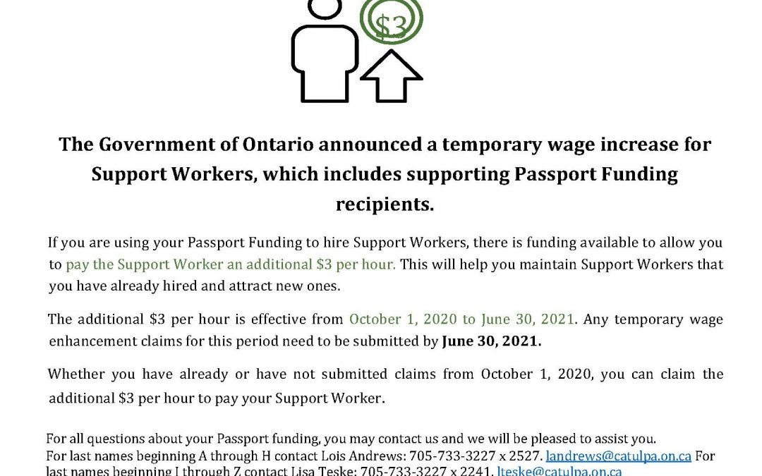 Passport Wage Increase Extended to June 30 2021
