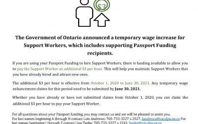 Augmentation du salaire des travailleurs de soutien prolongée jusqu'au 30 juin 2021