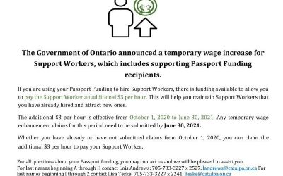 Support Worker Wage Increase Extended to June 30, 2021